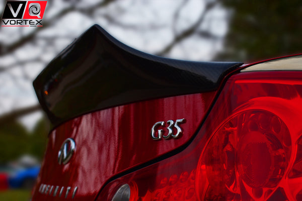 Spoiler - VQ VORTEX G35 Coupe High Kick Carbon Fiber Spoiler