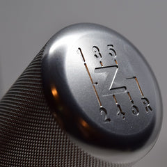 "Z Shift Knob - VQ Vortex Weighted Aluminum Shift Knob -Silver- (""Z"" Logo)"