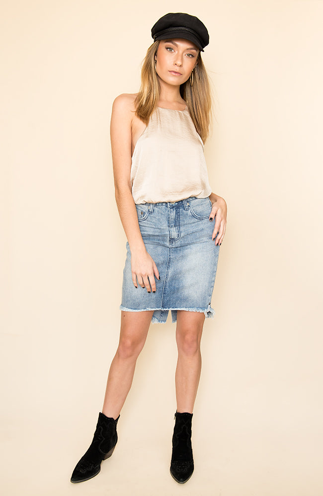 Rocky 2020 High Waist Denim Skirt