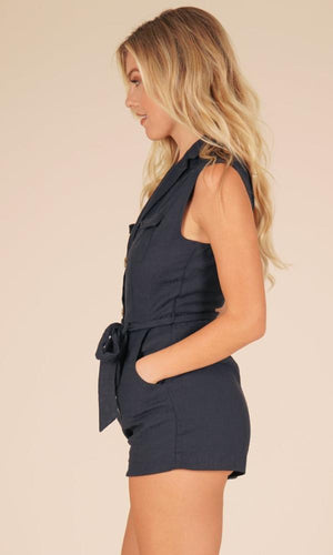In The Navy Playsuit