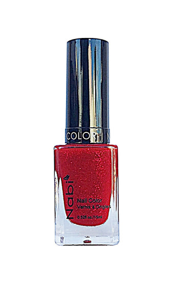 NP135 - Nabi 5 Nail Polish Red Glitter