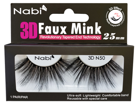 3D N50 - Nabi 3D Faux Mink Eyelash 25mm