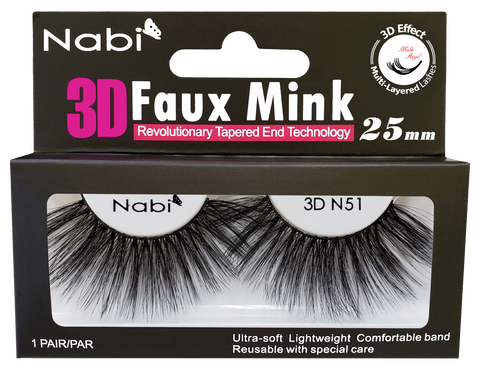 3D N51 - Nabi 3D Faux Mink Eyelash 25mm