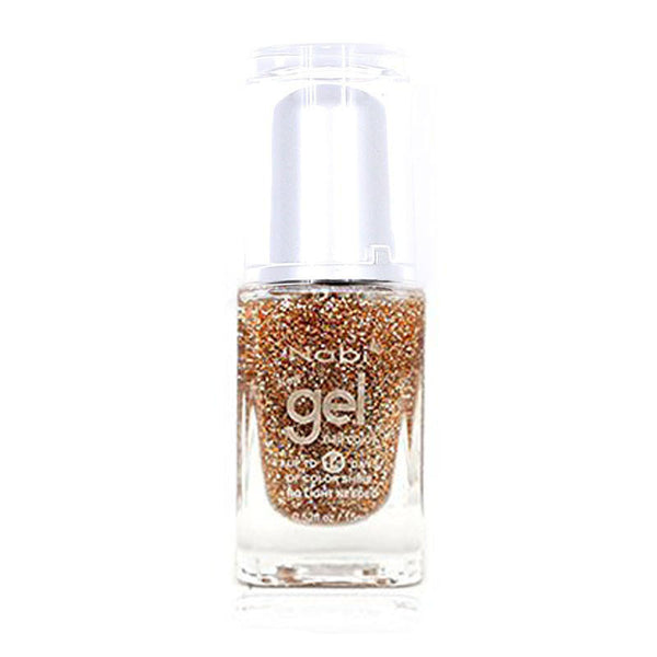 NG87 - New Gel Nail Polish Gold Round Glitter