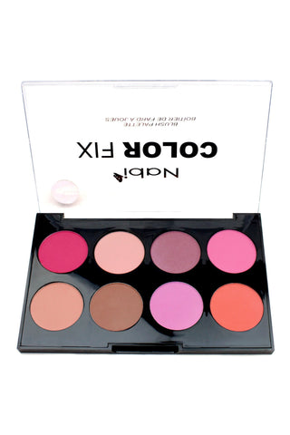 AC02 A - Color Fix 8 Color Blusher Palette A