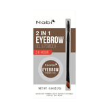 2 in 1 Eyebrow Gel & Powder Brown