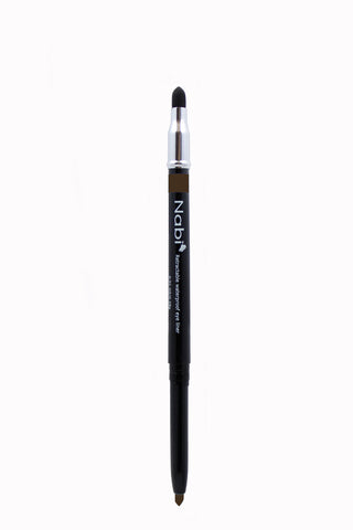 PE02 - Retractable Auto Eye Pencil with Sponge Brown