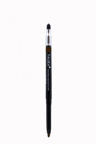 PE03 - Retractable Auto Eye Pencil with Sponge Dark Brown
