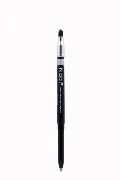PE04 - Retractable Auto Eye Pencil with Sponge Silver