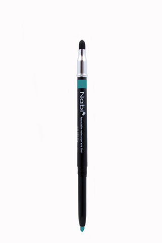 PE06 - Retractable Auto Eye Pencil with Sponge Peacock