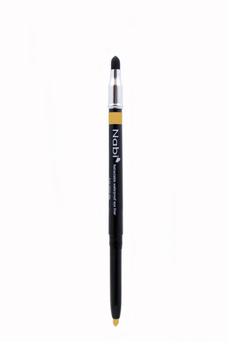 PE07 - Retractable Auto Eye Pencil with Sponge Gold