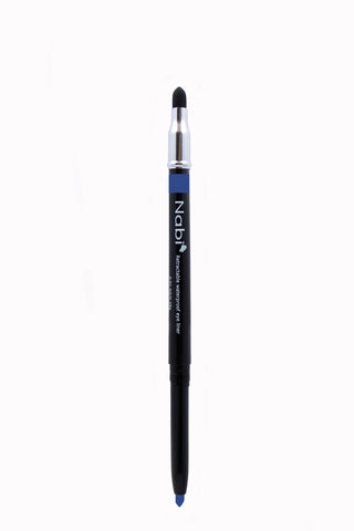 PE08 - Retractable Auto Eye Pencil with Sponge Navy Blue