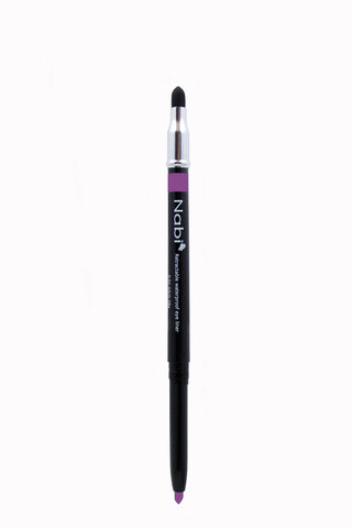 PE09 - Retractable Auto Eye Pencil with Sponge Purple