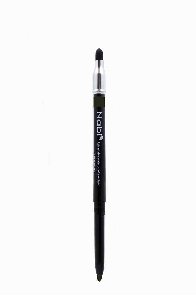 PE12 - Retractable Auto Eye Pencil with Sponge Charcoal