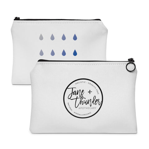 Jane and Thunder Rain drops Essential oil bag / Carry All Pouch - Flat