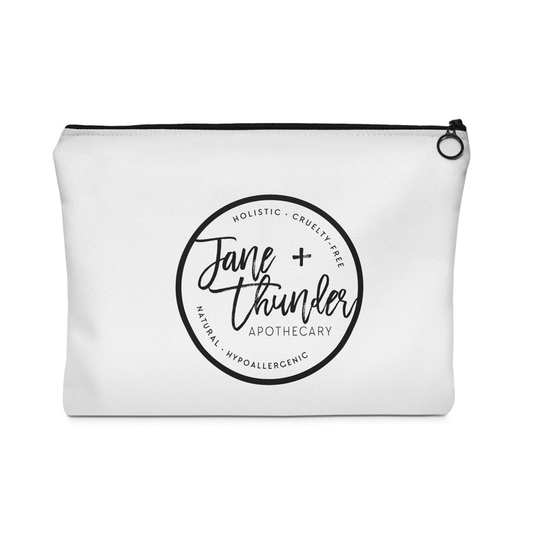 Love like Thunder Square Jane and Thunder Essential oil bag / Carry All Pouch - Flat