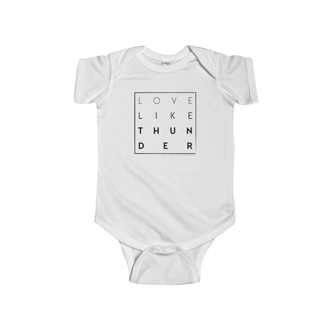 Love Like Thunder SquareInfant Fine Jersey Bodysuit