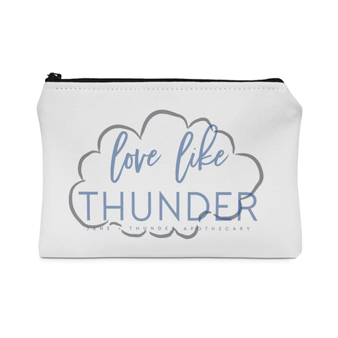 Love Like Thunder Jane and Thunder Essential oil bag / Carry All Pouch - Flat