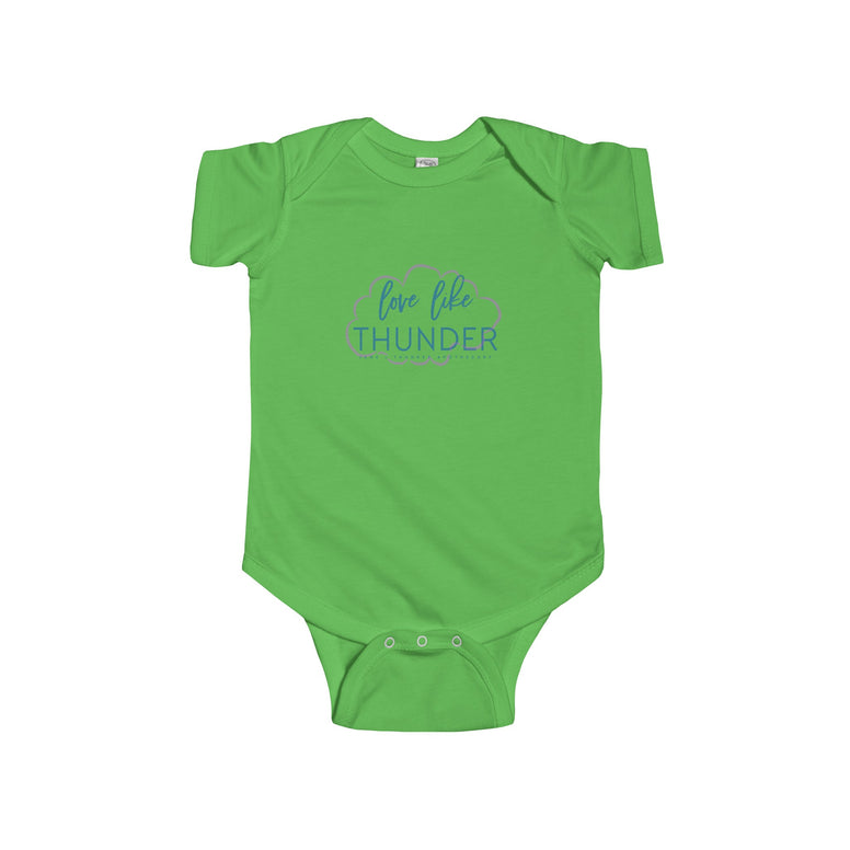 Love Like Thunder Cloud Infant Fine Jersey Bodysuit