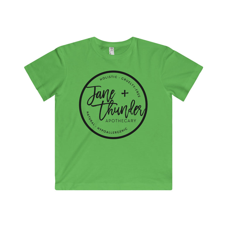 Jane and Thunder logo Kid's Fine Jersey Tee