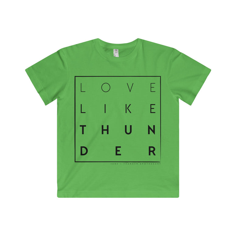 Love Like Thunder Square Kid's Fine Jersey Tee