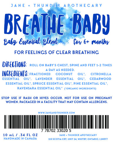 Organic Allergy Free Baby Safe essential oil blend - specific for babies with congestion problems.