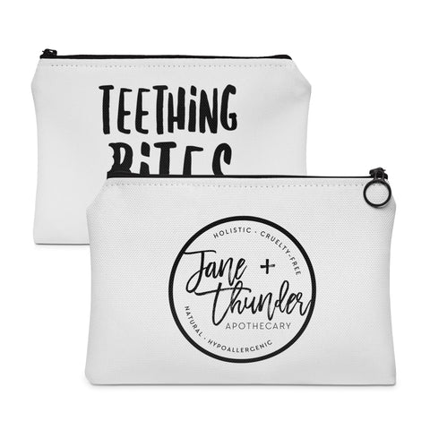 Teething Bites Jane and Thunder essential oil pouch / Carry All Pouch - Flat
