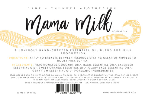 Mama Milk | Organic, Allergy Free, Pregnancy Safe Mama Essential Oils | Jane and Thunder Apothecary