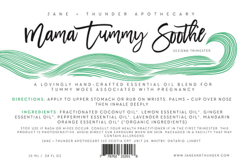 Mama Tummy Soothe | Organic, Allergy Free, Pregnancy Safe Mama Essential Oils | Jane and Thunder Apothecary