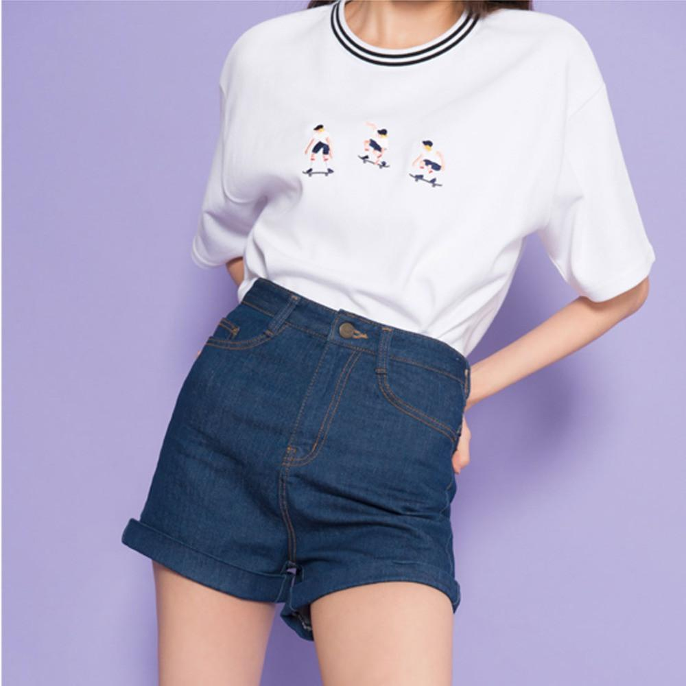 Skateboard Tee - Shop Minu (shirt) Korean Aesthetic Asian Women's Fashion