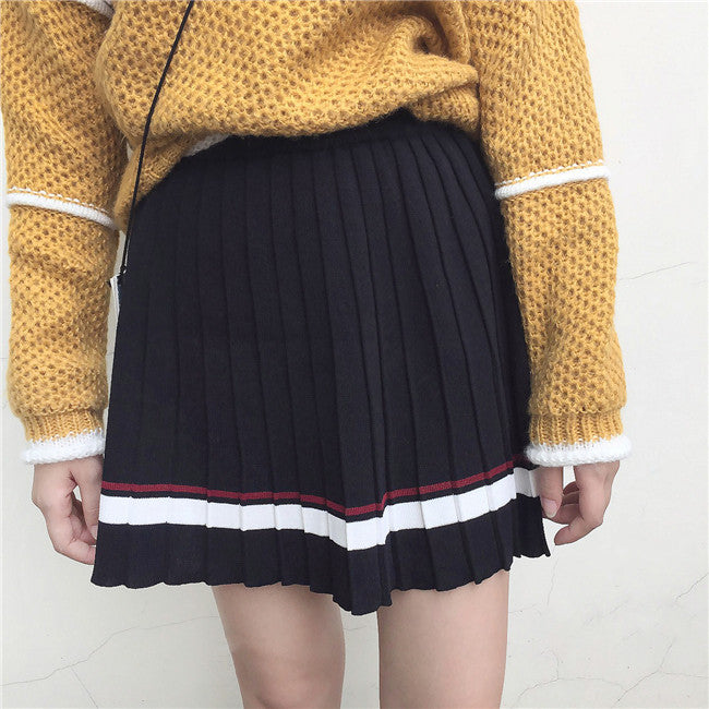 Pleated Knit Skirt - Shop Minu (skirt) Korean Aesthetic Asian Women's Fashion