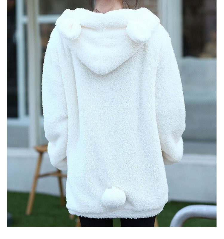 Fluffy Bear Hoodie - Shop Minu (hoodie) Korean Aesthetic Apparel & Accessories