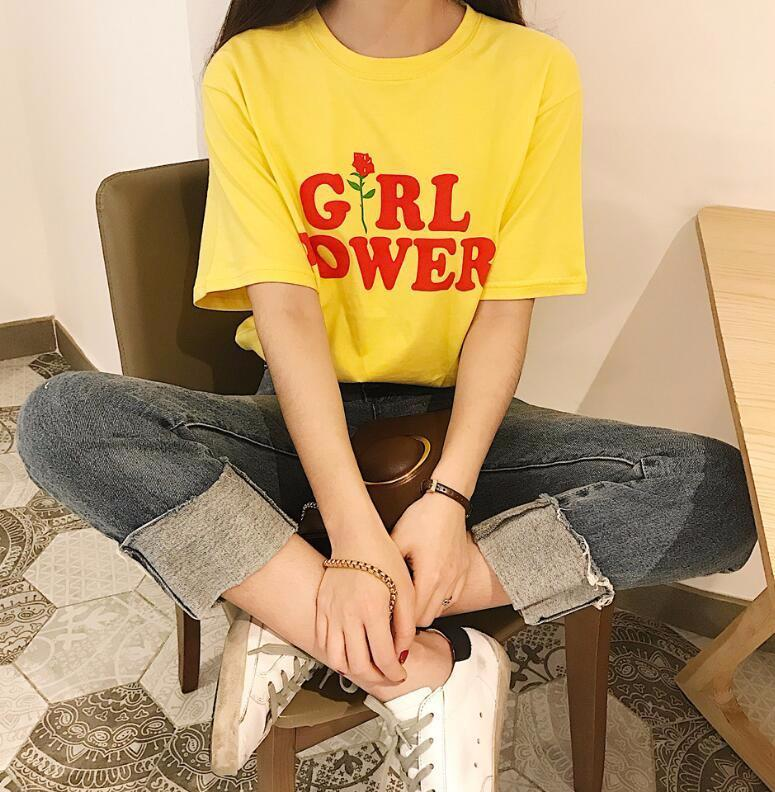 Girl Power T-Shirt - Shop Minu (shirt) Korean Aesthetic Apparel & Accessories