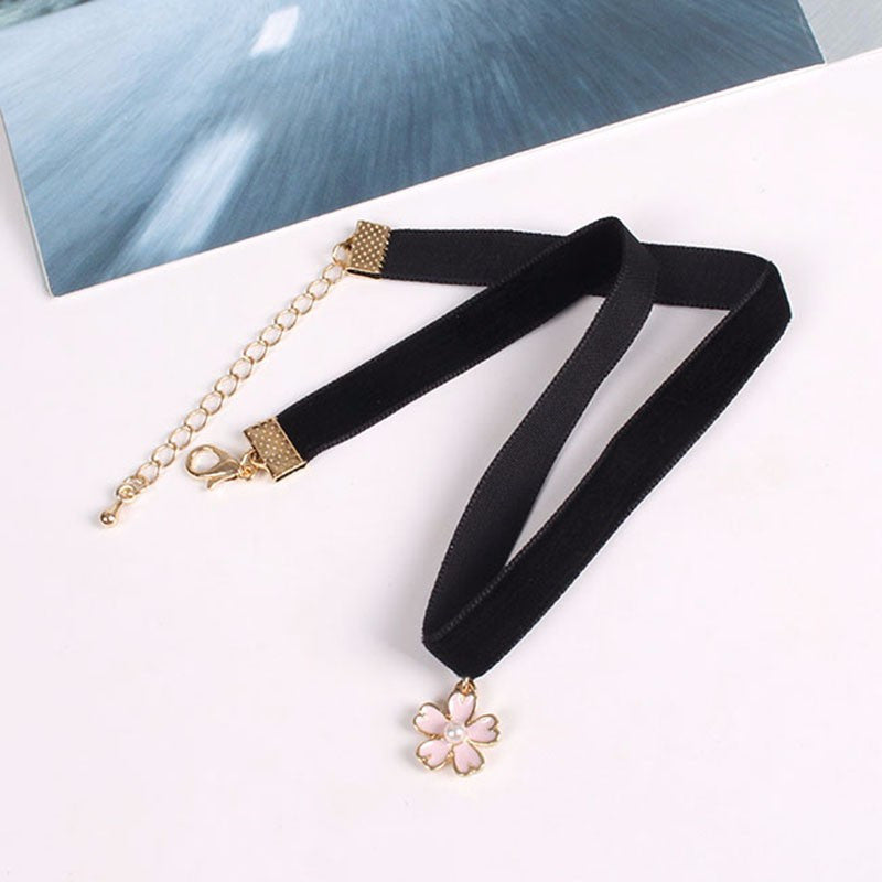 Black Velvet Choker - Shop Minu (necklace) Korean Aesthetic Asian Women's Fashion