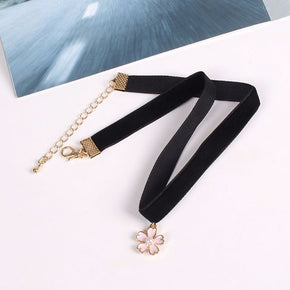Black Velvet Choker - Shop Minu (necklace) Korean Aesthetic Apparel & Accessories