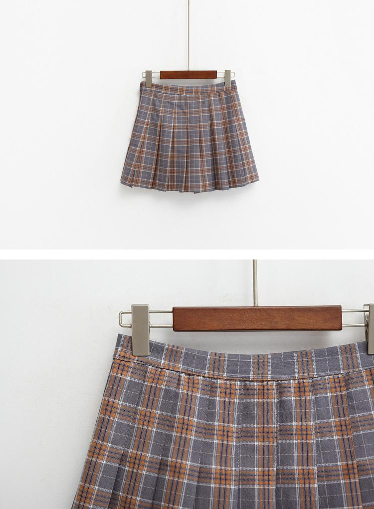 Vintage Style Plaid Skirt - Shop Minu (skirt) Korean Aesthetic Apparel & Accessories