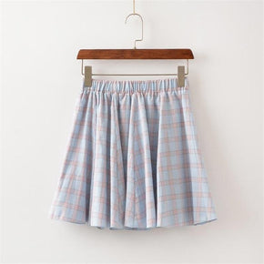 Colorful Plaid Skirt - Shop Minu () Korean Aesthetic Asian Women's Fashion