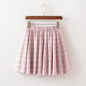 Colorful Plaid Skirt - Shop Minu () Korean Aesthetic Apparel & Accessories