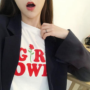 Girl Power Tee - Shop Minu (shirt) Korean Aesthetic Asian Women's Fashion