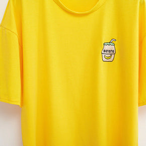 Banana Milk T-Shirt - Shop Minu (shirt) Korean Aesthetic Apparel & Accessories