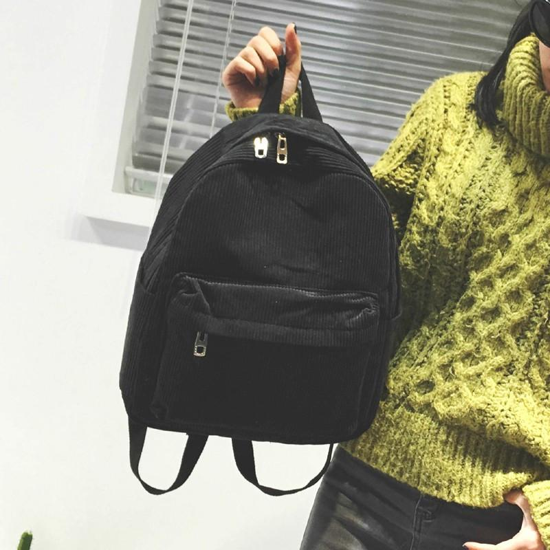 Corduroy Backpack - Shop Minu (bag) Korean Aesthetic Apparel & Accessories