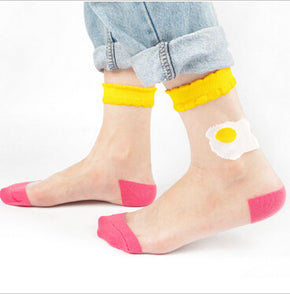 Transparent Egg Socks - Shop Minu (socks) Korean Aesthetic Apparel & Accessories