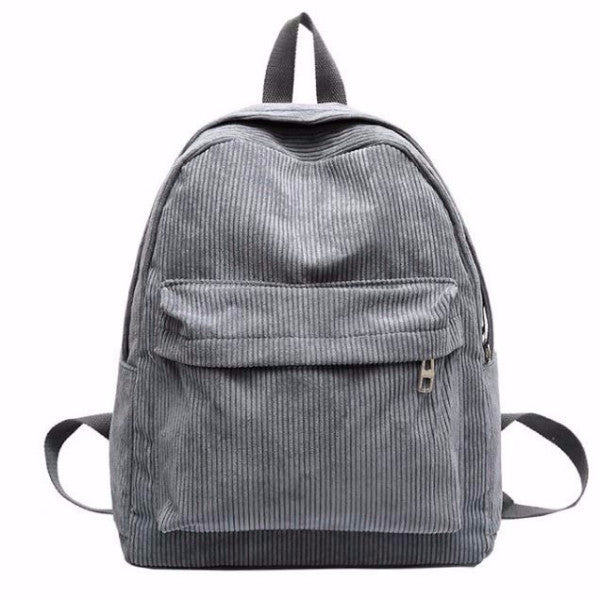 Corduroy Backpack - Shop Minu (bag) Korean Aesthetic Asian Women's Fashion