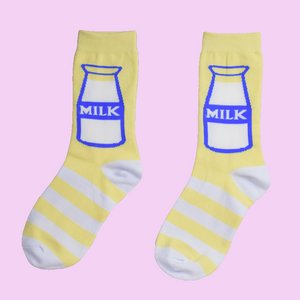 Milk Socks - Shop Minu (socks) Korean Aesthetic Apparel & Accessories