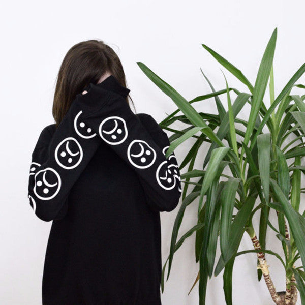 Sad Emoji Sweatshirt - Shop Minu (sweatshirt) Korean Aesthetic Asian Women's Fashion
