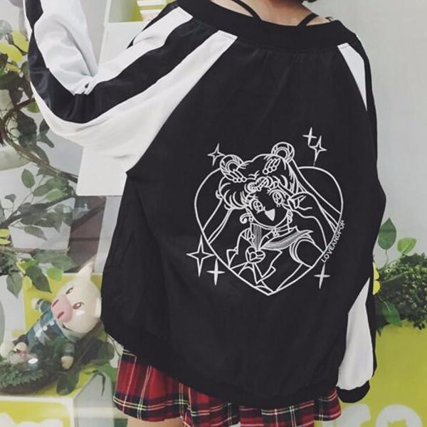 Sailor Moon Jacket - Shop Minu (jacket) Korean Aesthetic Apparel & Accessories