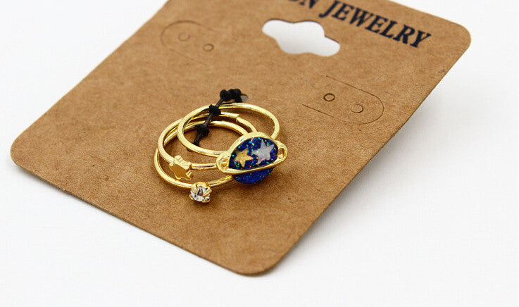 Star and Planet Ring Set - Shop Minu (ring) Korean Aesthetic Apparel & Accessories