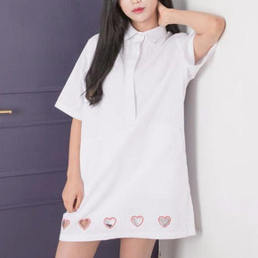 Heart Cut out Dress - Shop Minu (dress) Korean Aesthetic Apparel & Accessories