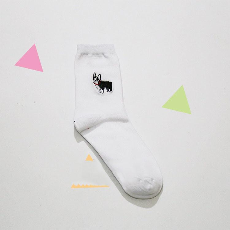 Dog Socks - Shop Minu (socks) Korean Aesthetic Asian Women's Fashion