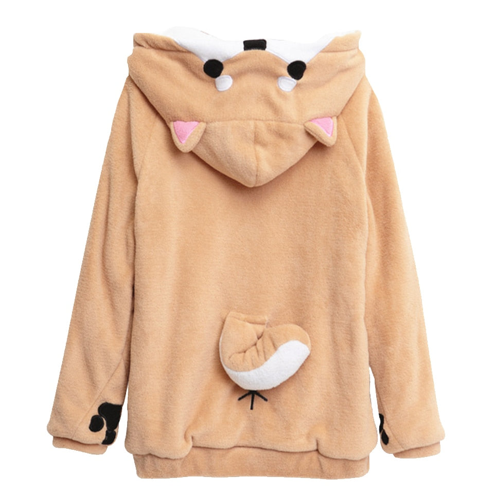 Cute Dog Hoodie - Shop Minu (jacket) Korean Aesthetic Apparel & Accessories